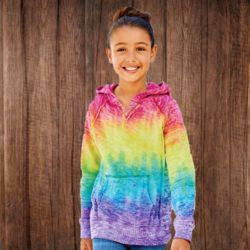 1162Y Girl's Courtney V-Notch Sweatshirt Thumbnail